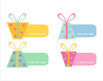 Set of 6 colorful gifts frames Royalty Free Stock Image