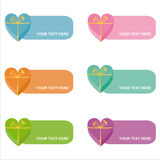 Set of 6 colorful gifts frames Stock Images