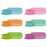 Set of 6 cups frames Royalty Free Stock Photography