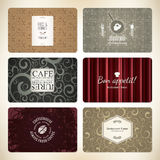 Set of 6 detailed business cards Royalty Free Stock Image