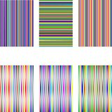 Set of 6 diferent stripes isolated on white Stock Image