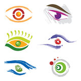 Set of 6 Eye Icons Stock Image