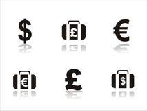 Set of 6 finance icons Stock Image