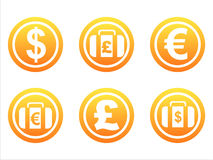 set of 6 finance signs Stock Image