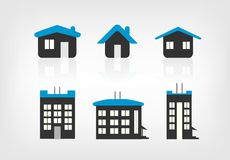 Set of 6 house icon variations Stock Photo