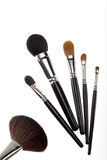 A set of 6 make-up brushes Royalty Free Stock Images
