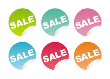 Set of 6 sale stickers Royalty Free Stock Photo