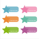 Set of 6 stars frames Royalty Free Stock Photo