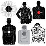 Set of 6 Vector Shooting Targets Stock Photo