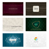 Set of 6 vertical business cards Stock Photos