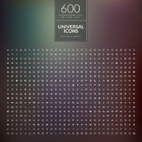 Set of 600 universal modern thin line icons for we