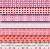 Set of 7 different patterns Stock Photo