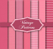 Set of 7 different patterns Royalty Free Stock Images