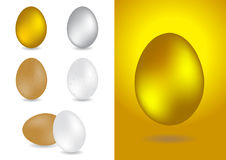 Set of 7 egg  illustrations Royalty Free Stock Images
