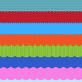 Set of 7 header backgrounds. Royalty Free Stock Photo