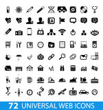 Set of 72 universal web icons. Isolated on white Royalty Free Stock Images