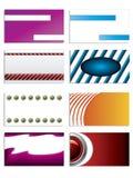 Set of 8 business cards Stock Photos