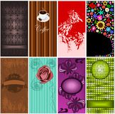 Set of 8 business cards. Illustration of different kind of eight business cards Stock Images