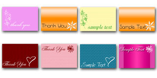 Set of 8 cards Royalty Free Stock Photography