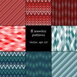 Set of 8 seamless patterns Stock Image