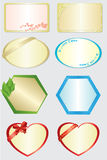 Set of 8 vector color cards. Set of 8 different color cards royalty free illustration