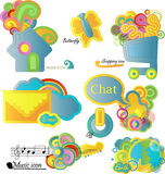 Set of  8 vector icons Stock Image