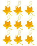 Set of 9 autumn tags Stock Image