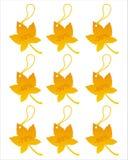 Set of 9 autumn tags Stock Image
