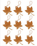Set of 9 autumn tags Royalty Free Stock Images