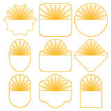 Set of 9 badge designs Stock Photography