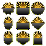 Set of 9 badge designs Royalty Free Stock Image