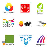 Set of 9 brand designs Stock Images