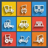 Set of 9 cars web and mobile icons. Vector. Royalty Free Stock Photos