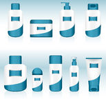 Set of 9 Cosmetic Containers. Stock Photo