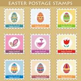 Set of 9 easter postage stamps (2) Royalty Free Stock Photography