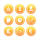 Set of 9 finance signs Stock Photo