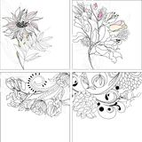 Set 9, floral background Royalty Free Stock Photos