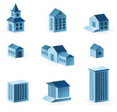 Set of 9 house icons Stock Photos