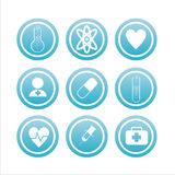 Set of 9 medical signs Royalty Free Stock Photography