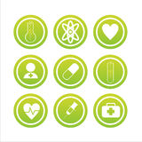 Set of 9 medical signs Royalty Free Stock Images
