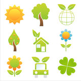 Set of 9 nature icons Royalty Free Stock Photo