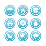 Set of 9 nature signs Stock Photo