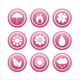 Set of 9 nature signs Royalty Free Stock Photography
