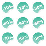 Set of 9 sale stickers Stock Photo