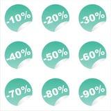 Set of 9 sale stickers Stock Photo