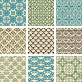 Set of 9 seamless patterns. Stock Images