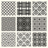 Set of 9 seamless patterns. Stock Image
