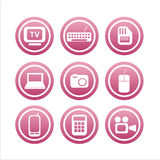 Set of 9 technology signs Royalty Free Stock Photo