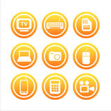 Set of 9 technology signs Royalty Free Stock Images