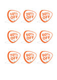 Set of 9 vector online shopping icons. Orange and grey Royalty Free Stock Photo
